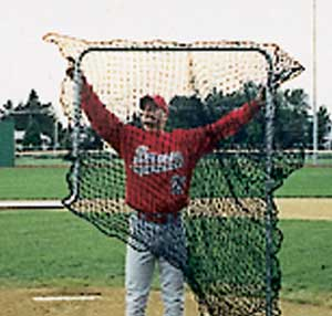 Details about  /6/'x6/' Nylon L-Screen Baseball Protective Pitcher Screen Replacement Net